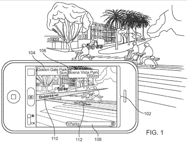 apple patent augmented reality