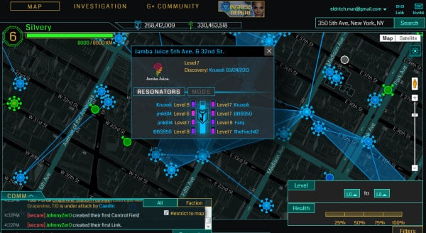 ingress map augmented reality