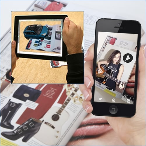 augmented reality printed media