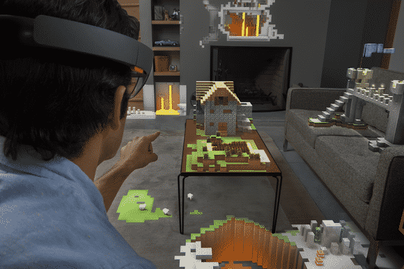 Minecraft augmented virtual reality games