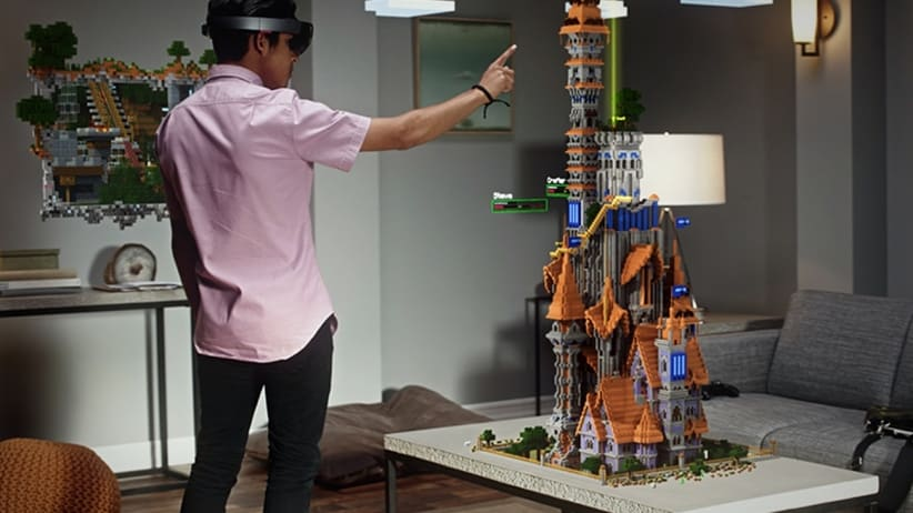 """microsoft hololens new beginning trimble halo minecraft augmented reality"""
