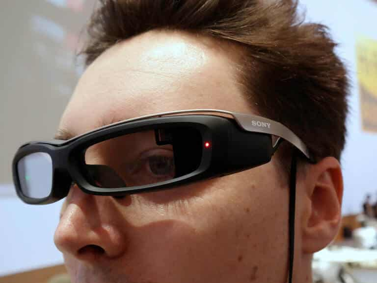 man with smart glasses