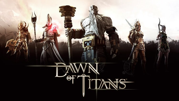 Dawn of the Titans game poster