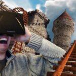 Man wearing an Oculus Rift headset