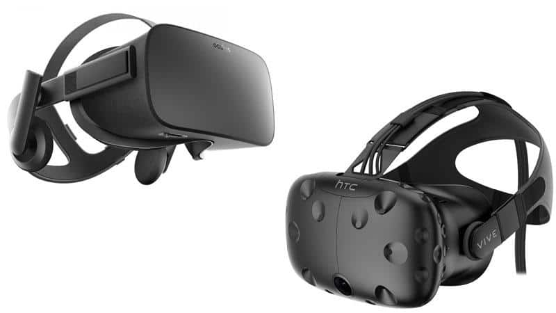 HTC Vive and Oculus VR headsets