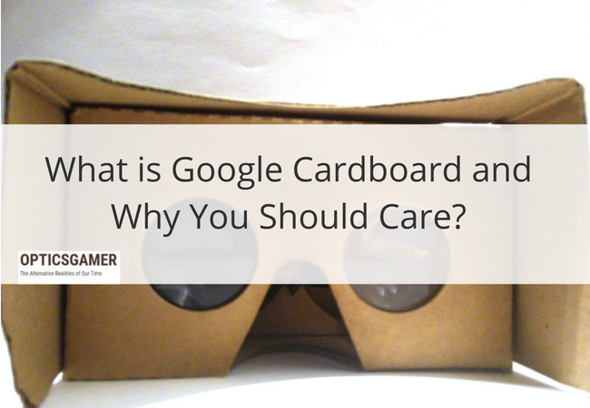 google cardboard image with post title