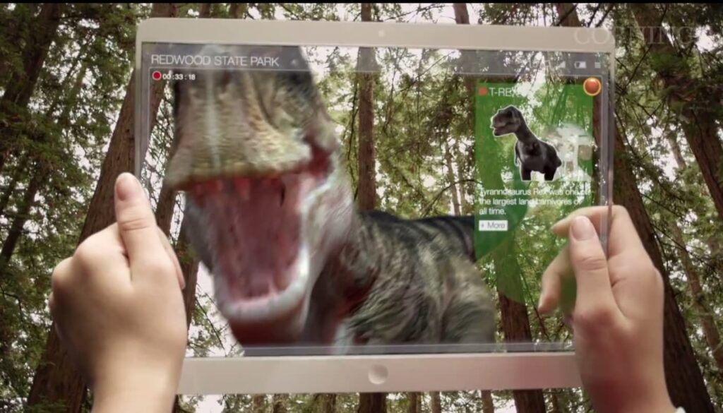 dinosaur augmented reality technology