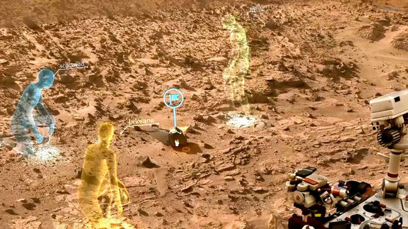 HoloLens V1 Developer Edition - Walking on Mars