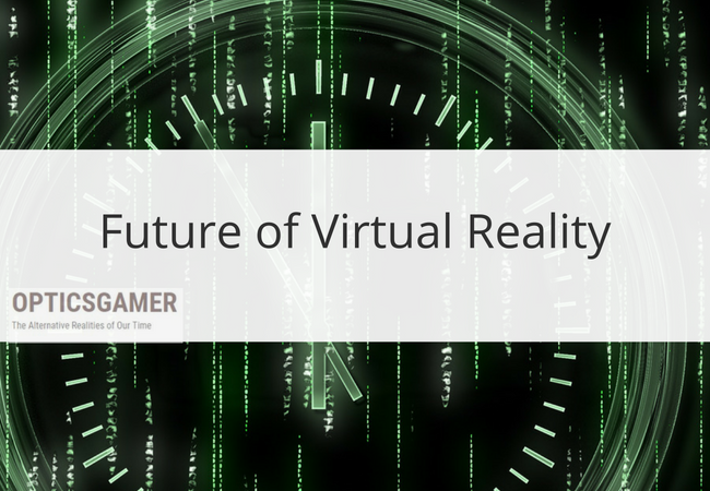 future of virtual reality with matrix background image