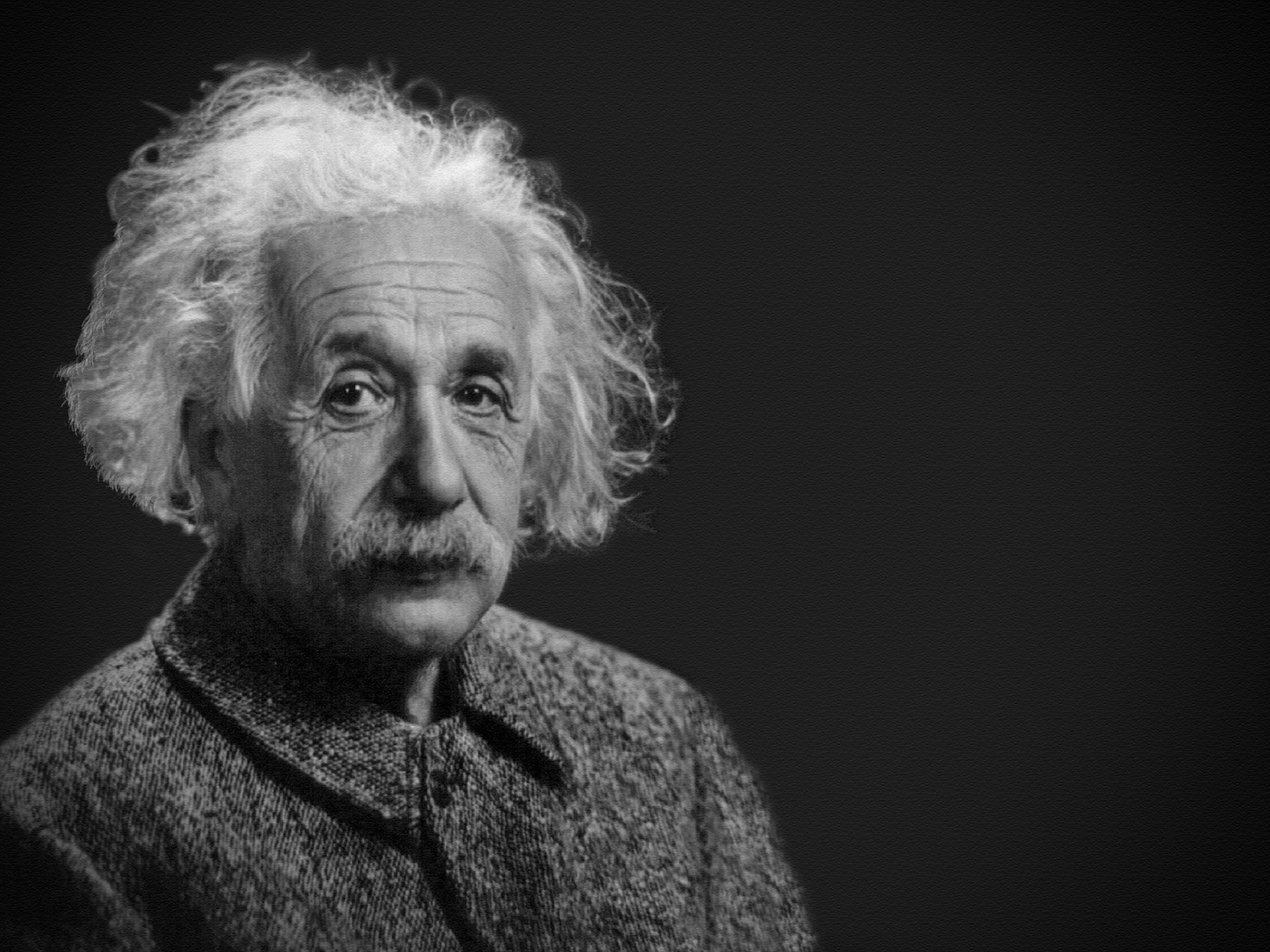 Black and white image of Albert Einstein