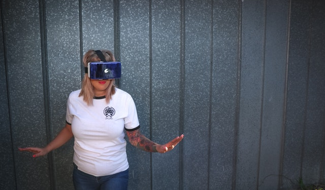 a woman trying out one of the best gear vr apps